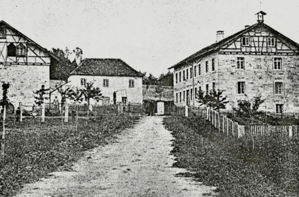 Der Schebbes 1866: Damals stand dort nur ein Bauernhaus mit Nebengebäuden. Foto: privat