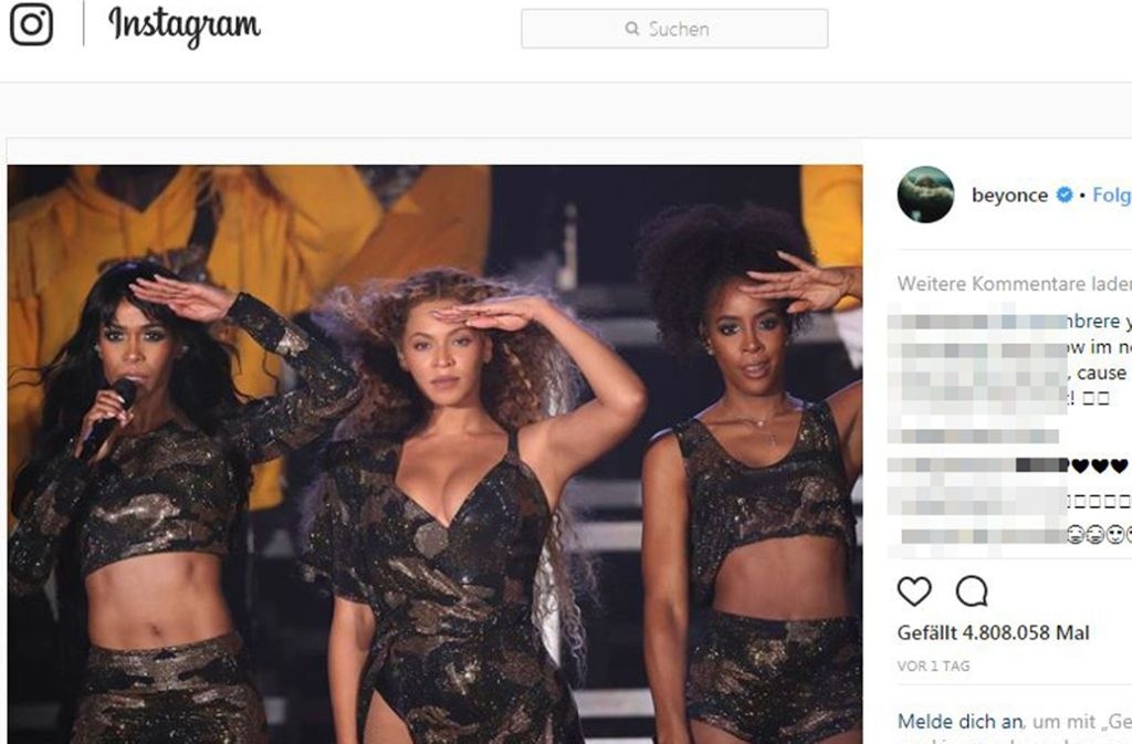 In den sozialen Medien werden die Fotos von der Wiedervereinigung von Destiny's Child munter verteilt. Foto: @Beyoncé/Instagram