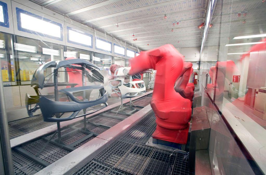 Etliche Automobilkonzerne vertrauen auf die Lackiertechnik von Eisenmann. Foto: Werksfoto