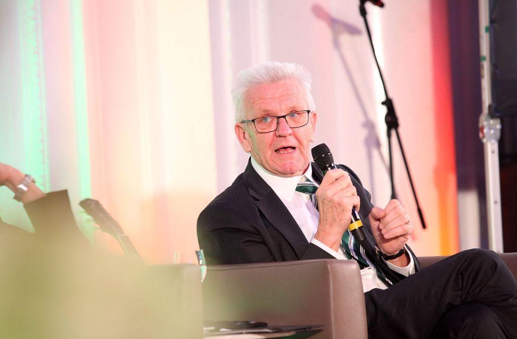Ministerpräsident Kretschmann macht sich für den Dialekt stark. Foto: Lichtgut/Jan Reich