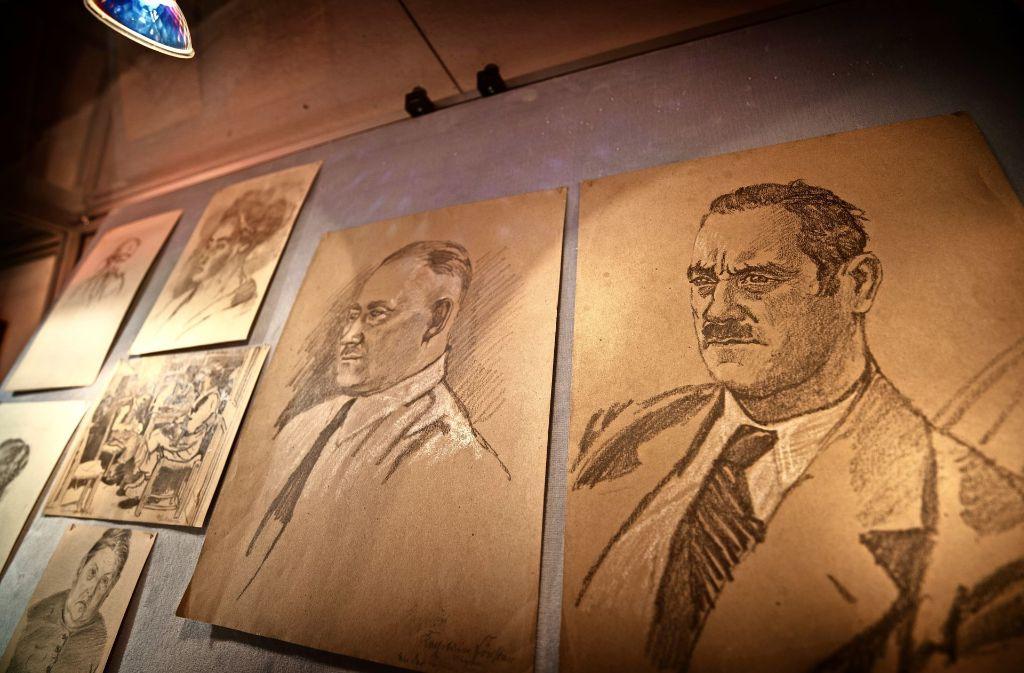 Zeichnungen  des Künstlers Karl Fuchs sind bis zum 17. September in Buoch zu sehen Foto: Gottfried Stoppel