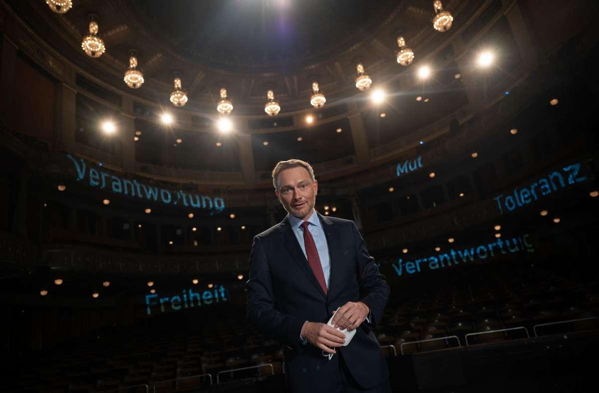 FDP-Chef Christian Lindner übt Kritik an der Bundesregierung. Foto: dpa/Sebastian Gollnow