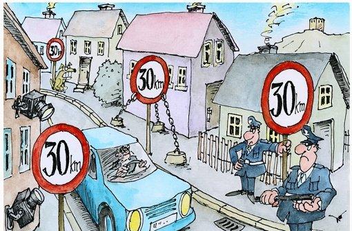 An Schulen sollen Autofahrer vom Gas