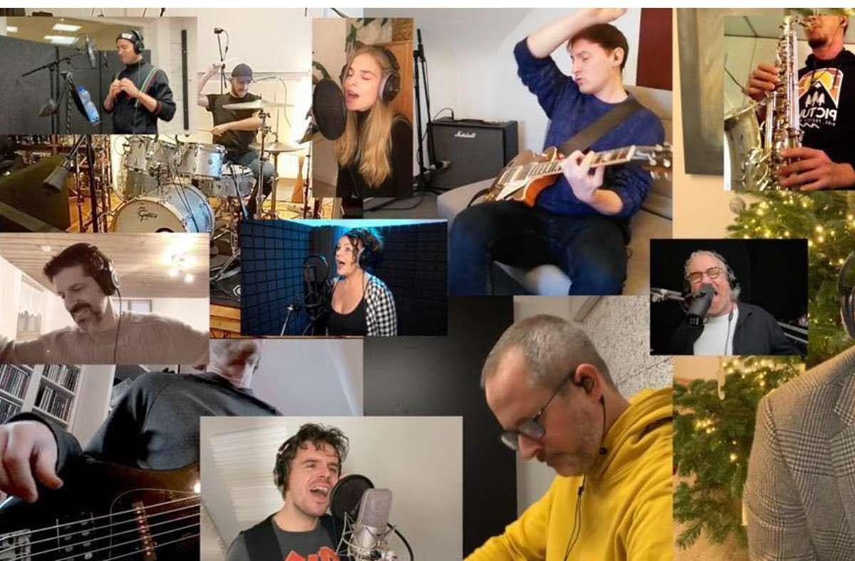 """Stuttgarter Musicalsängerinnen und -sänger haben das Lied """"Zusammen"""" getrennt im Apollo-Theater oder im eigenen Studio aufgenommen. Foto: Art Support Stuttgart"""
