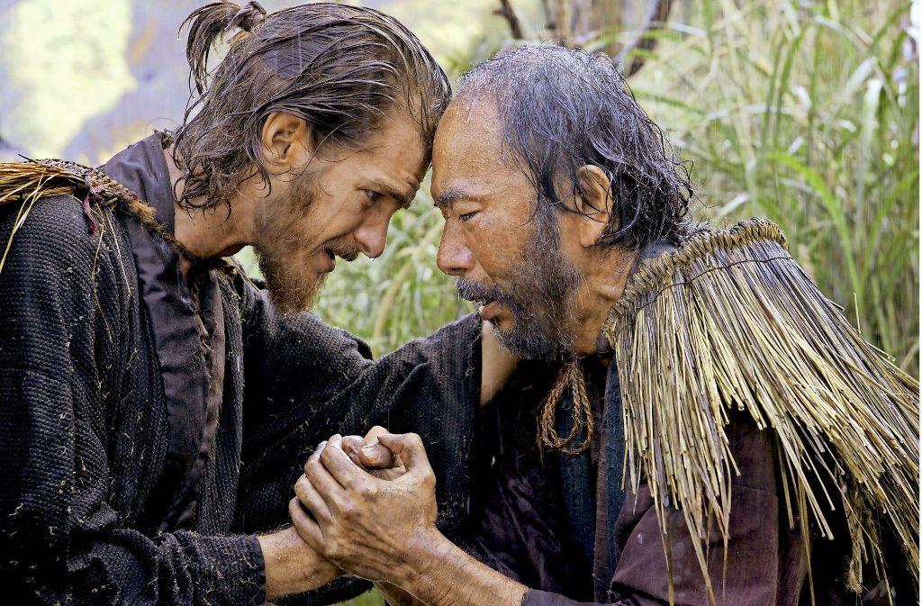 Den Missionar (Andrew Garfield) und den Bauer (Shinya Tsukamoto) verbinden Glaube und Lebensgefahr. Foto: Verleih
