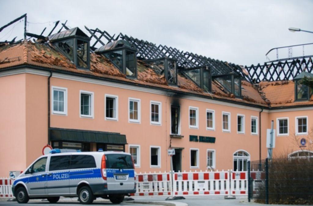 In der Nacht zum Sonntag ist im sächsischen Bautzen ein unbewohntes Asylbewerberheim angezündet worden. Foto: dpa