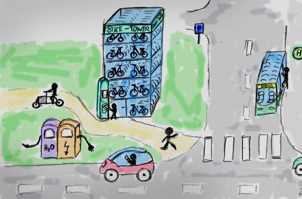 Noch nicht ganz ausgereift: die Pläne für einen emissionsfreien Campus Foto: DHBW