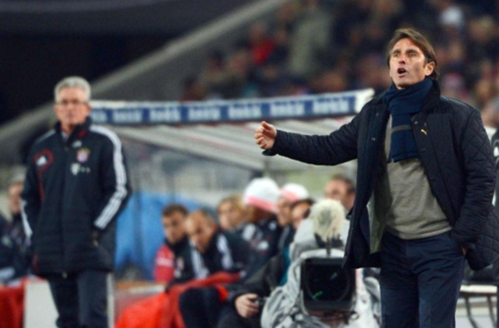 Nach dem Fehlstart gegen Wolfsburg und Bayern hofft  Bruno Labbadia auf Punkte. Klicken Sie sich durch unsere Bilderstrecke vom Bayernspiel am Sonntag. Foto: dpa
