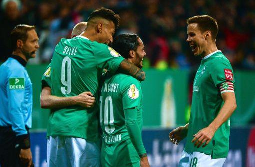 Werder erreicht mit Schalke, Frankfurt und Düsseldorf nächste Runde