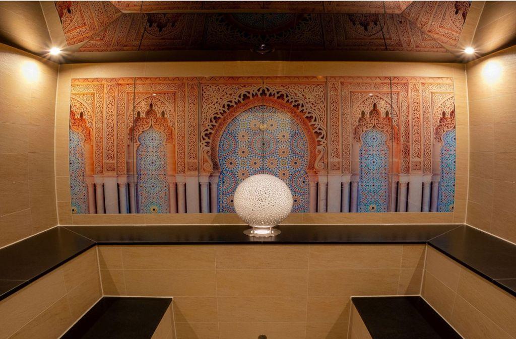 Das neue  Bad mutet orientalisch an und bietet Platz für zehn Personen. Foto: Stadt Wernau