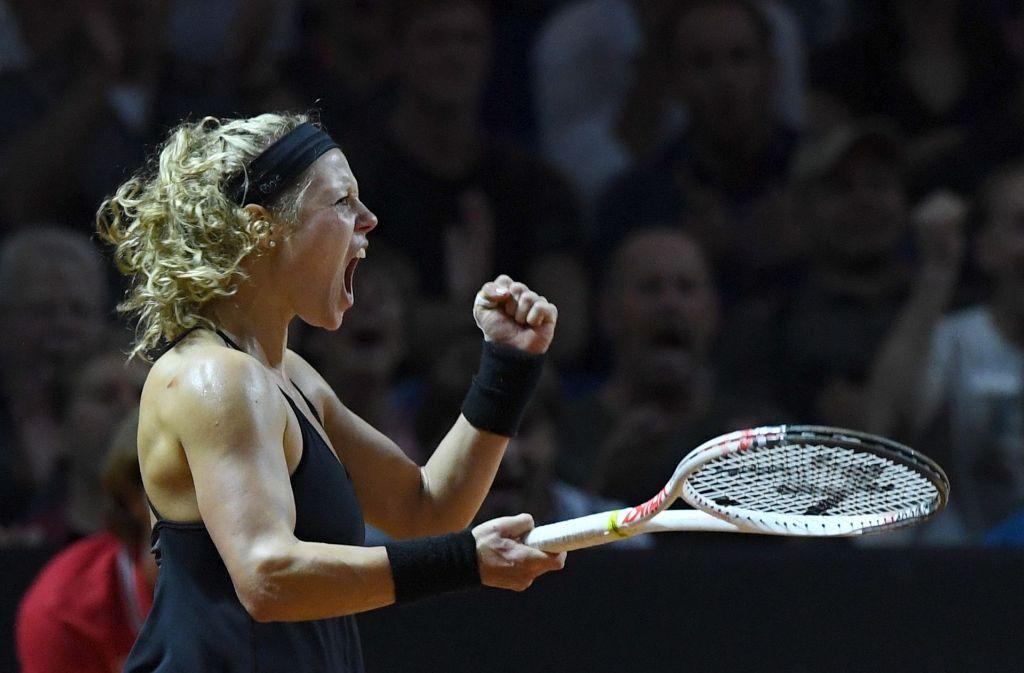 Laura Siegemund steht im Halbfinale beim Porsche Tennis Grand Prix. Foto: dpa