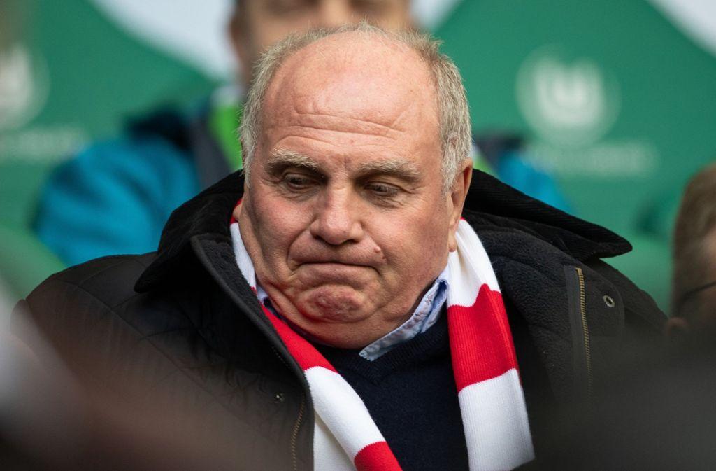 Meist läuft es im Fußball so, wie Bayern-Präsident Uli Hoeneß es sich wünscht – aber manchmal eben auch nicht. Foto: dpa