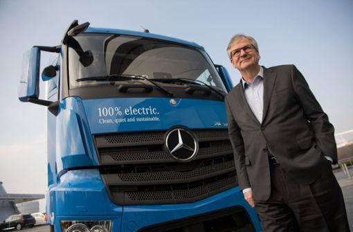 Truck-Vorstand: Batterie auf langen Strecken im Nachteil