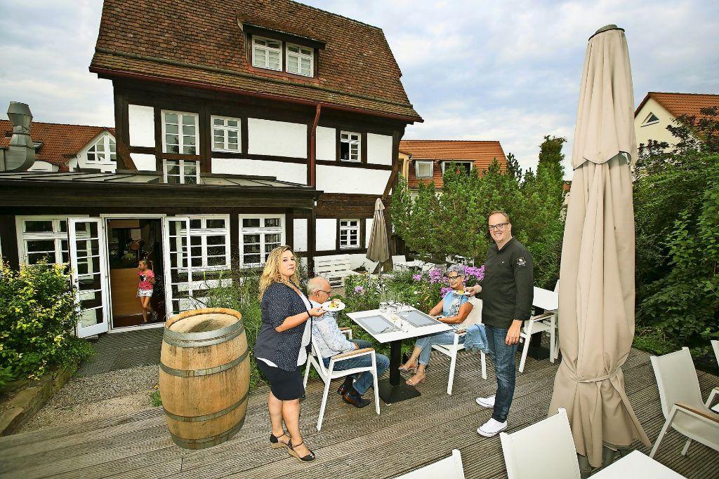 Nadine und Lars Volbrecht machen die Alte Vogtei zu einer Topadresse. Foto: Horst Rudel