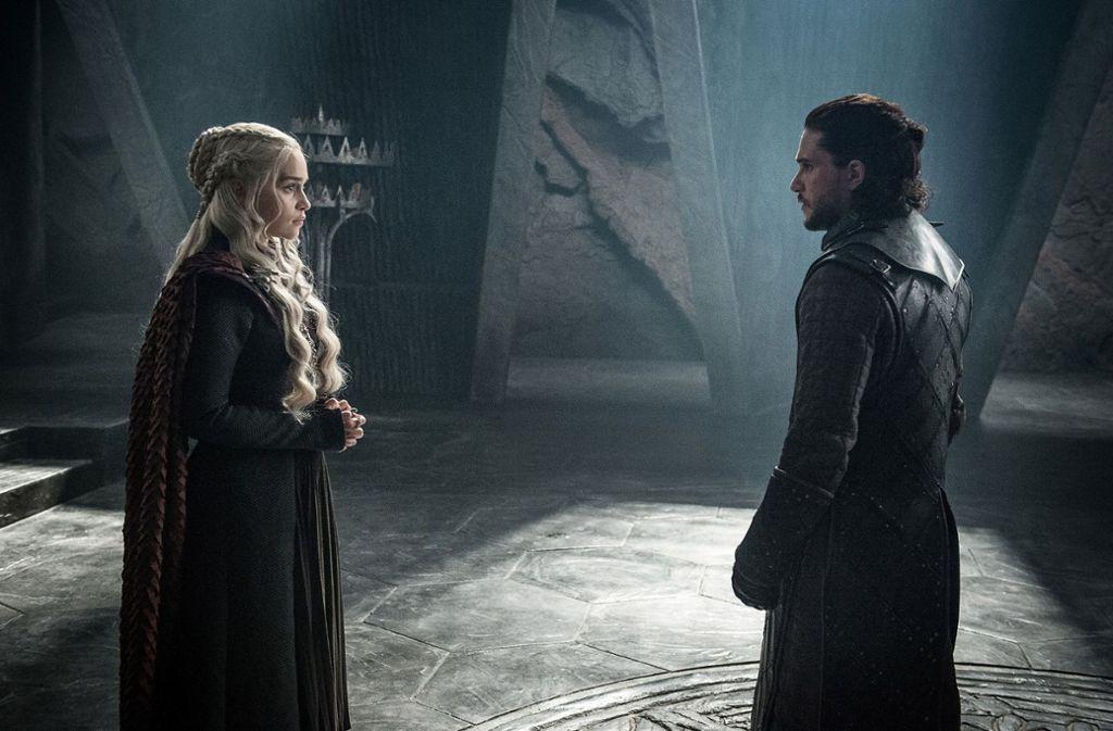 """Game of Thrones""-Traumpaar: Emilia Clarke als Daenerys Targaryen und Kit Harington als Jon Snow Foto: HBO"