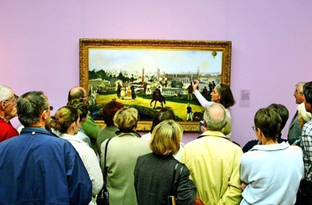 Klassisches Dreieck: Führer(in), Besucher, erklärte Kunst Foto: Rudel