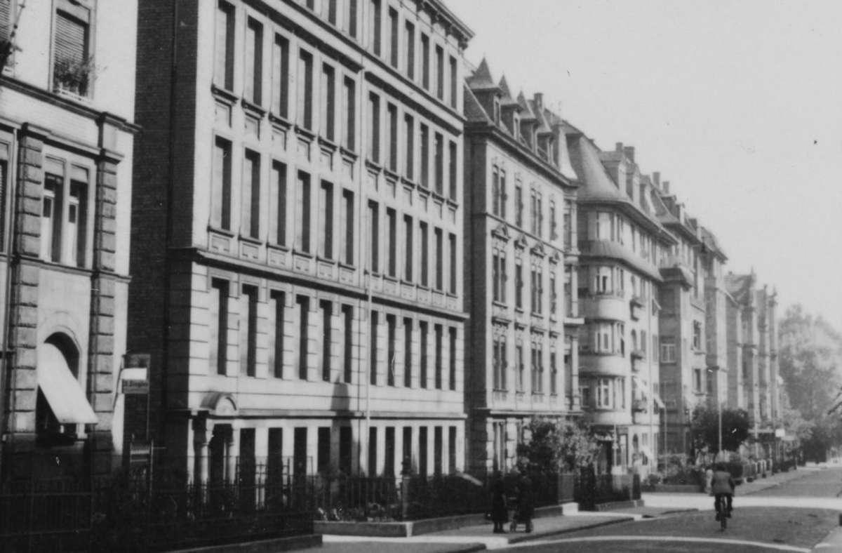 Die ehemalige Fabrik von Mendel&Levy in der Lindenspürstraße Foto: Stadtarchiv Stuttgart