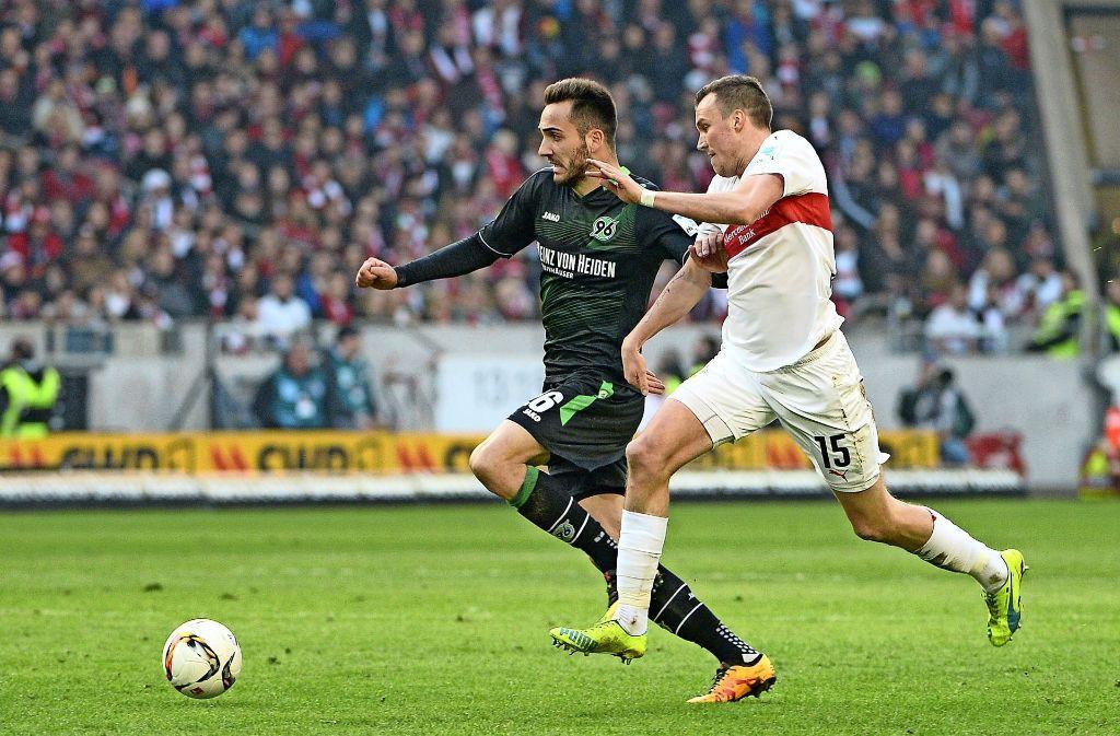 Zuletzt traf der VfB im Februar auf Hannover und unterlag mit 1:2. Es war der Anfang vom Ende in der Bundesliga. Foto: dpa