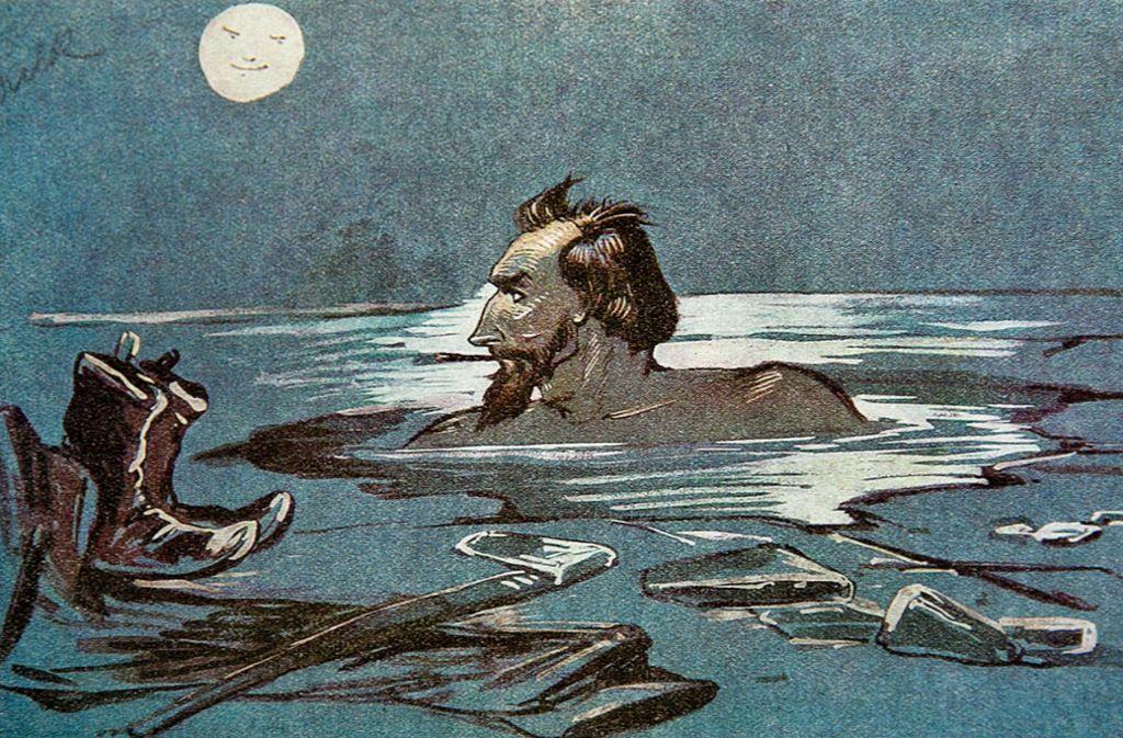 Albert Benno Dulk war auch ein begeisterter Eisschwimmer. Foto: Horst Rudel