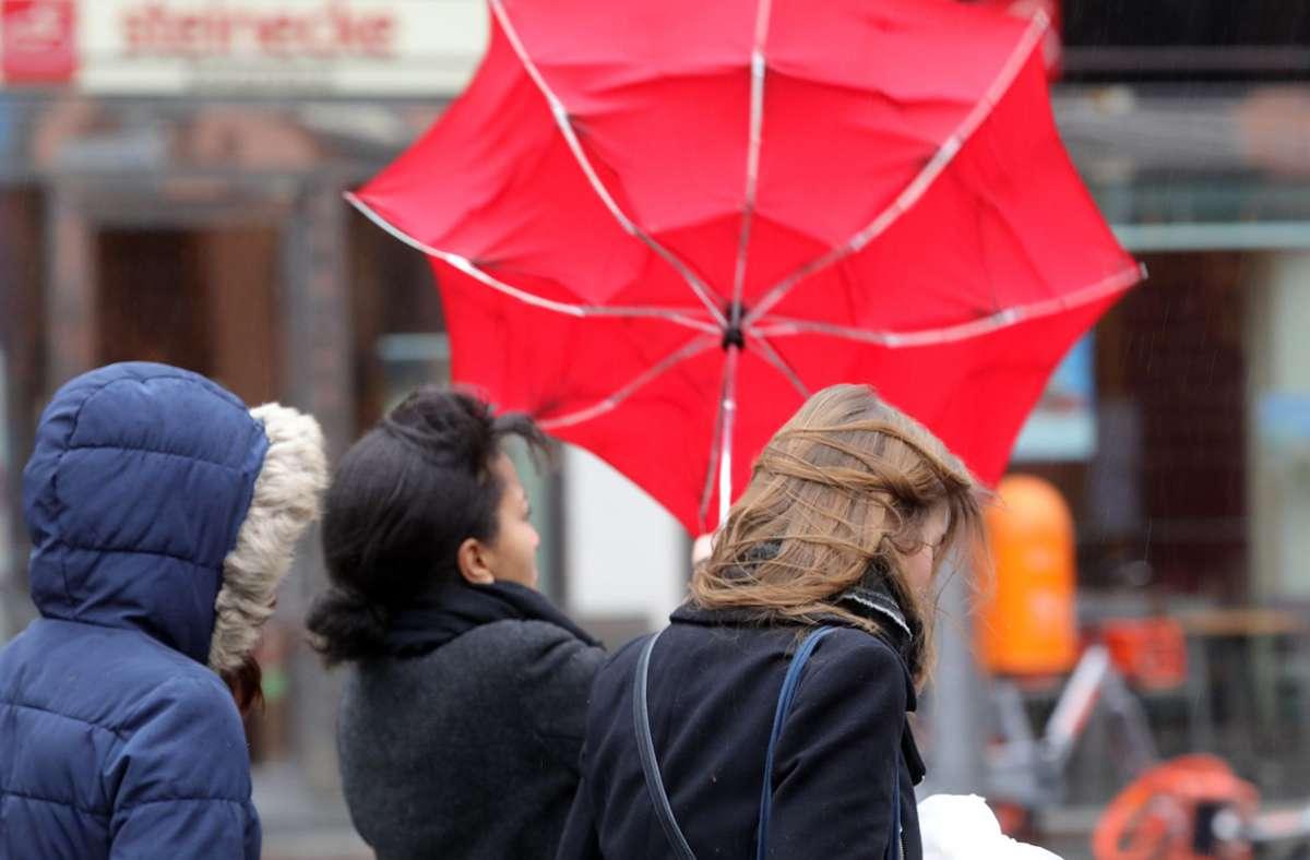 In den kommenden Tagen könnte es auch stürmisch werden (Symbolbild). Foto: dpa/Wolfgang Kumm