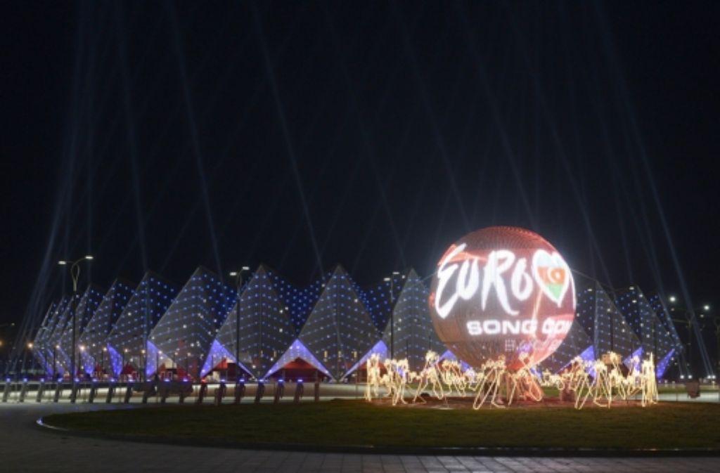 Dass der Eurovision Song Contest in Baku stattfindet, löst immer noch heftige Diskussionen aus. Foto: dapd
