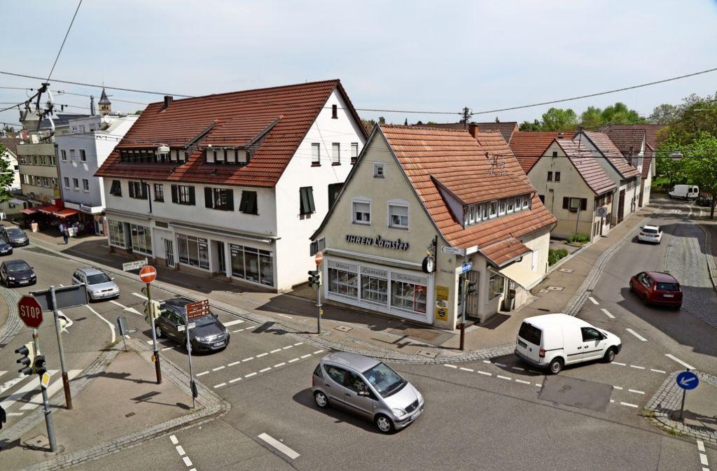 Ortsmitte in Schmiden: Nach wie vor ist umstritten, wie ein städtebaulicher Impuls für das Sanierungsgebiet gelingt. Foto: Patricia Sigerist