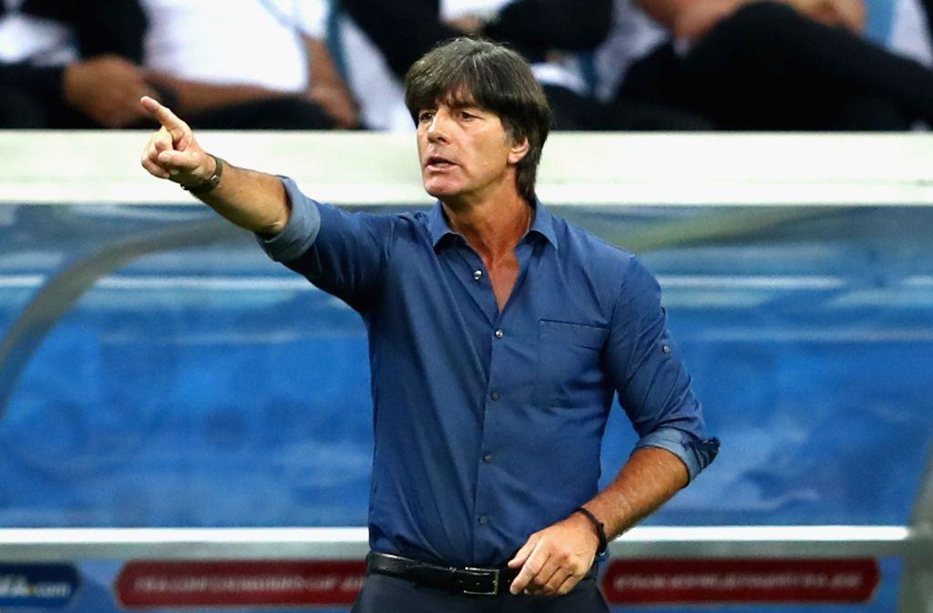 Bundestrainer Joachim Löw hat sich zum Videobeweis geäußert. Foto: Bongarts