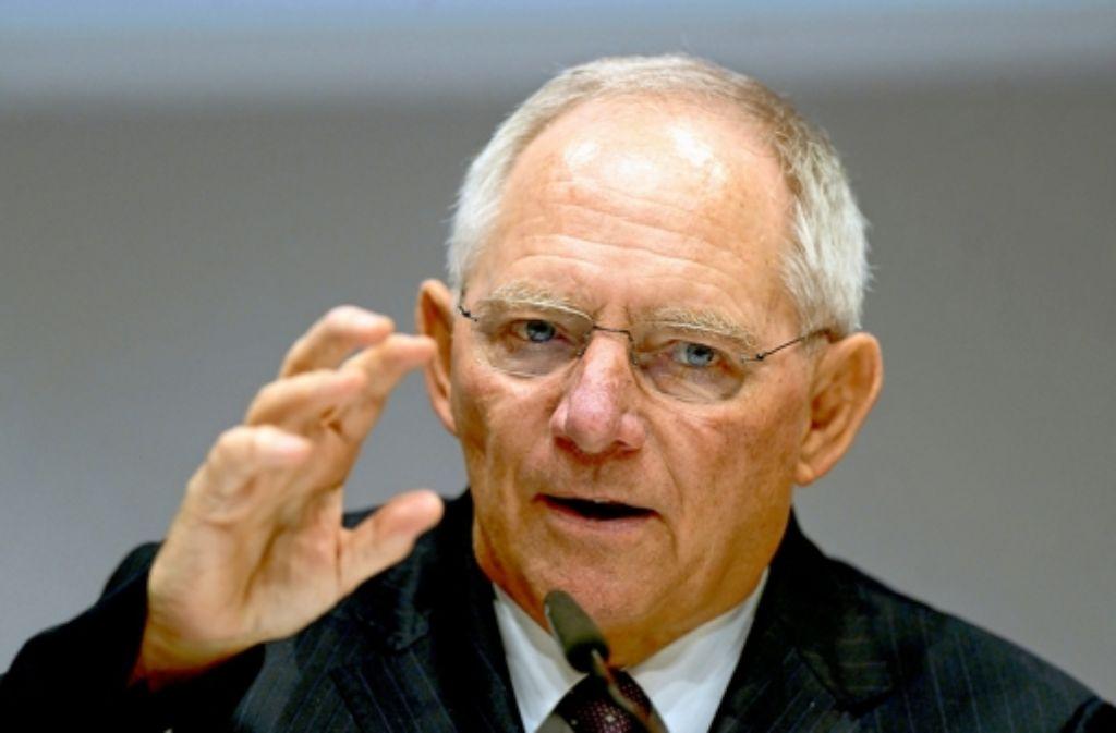 """Hält eine Mehrheit für die CDU für möglich, aber """"nicht sicher"""": Bundesfinanzminister Wolfgang Schäuble, der erneut zum Spitzenkandidaten für die Bundestagswahl gewählt wurde. Foto: dpa"""