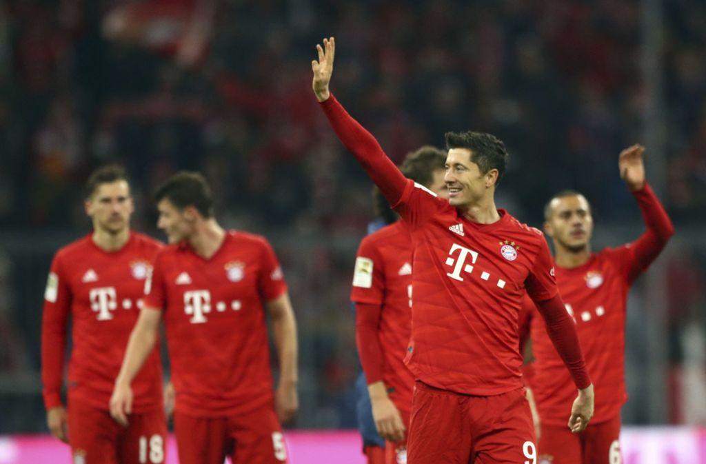 Traf zwei Mal: Bayern-Star Robert Lewandowski. Foto: AP/Matthias Schrader