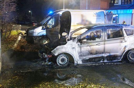 Brandstifter stecken sechs Autos an