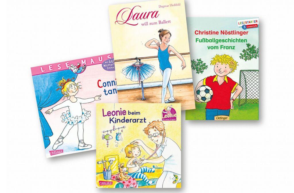 Die Protagonisten in den üblichen  Kinderbüchern heißen Conni, Franz, Leonie und Laura. Foto: Collage Lisa Hofmann