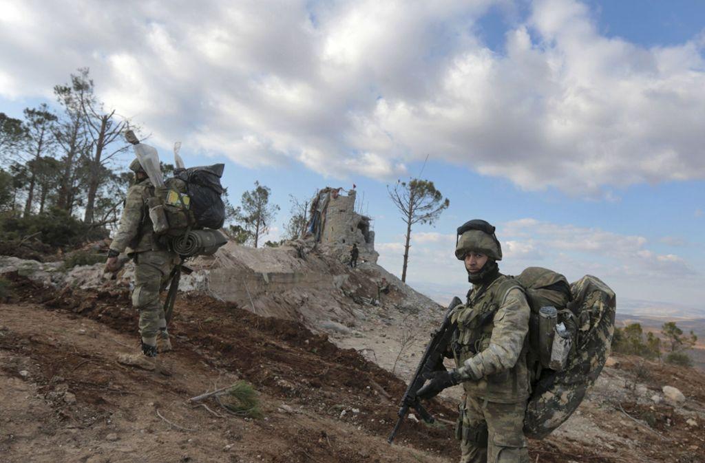 Die türkische Armee ist in Nordsyrien aktiv. Foto: AP