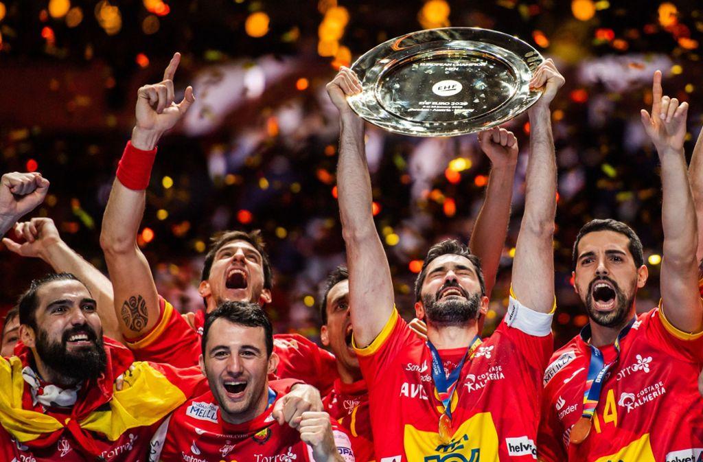 Mit dem EM-Titel haben sich die spanischen Handballer direkt für Olympia in Tokio qualifiziert. Foto: dpa/Johanna Lundberg