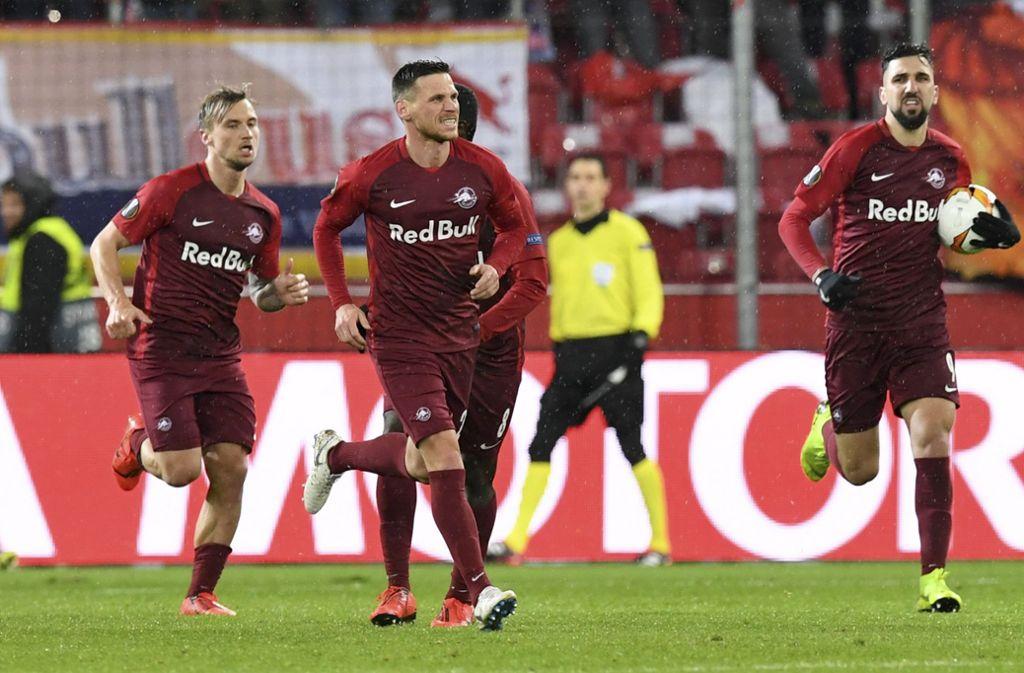 RB Salzburg gewann zwar 3:1 gegen den SSC Neapel, das reichte aber nicht zum Weiterkommen. Foto: AP