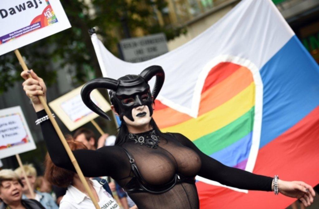 Hunderttausende feiern den Christopher Street Day in Berlin.  Foto: dpa-Zentralbild