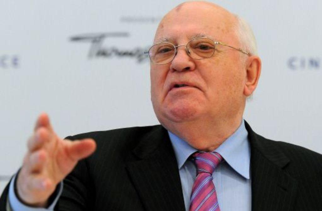 Michail Gorbatschow hat das umstrittene Krim-Referendum gelobt. Foto: dpa