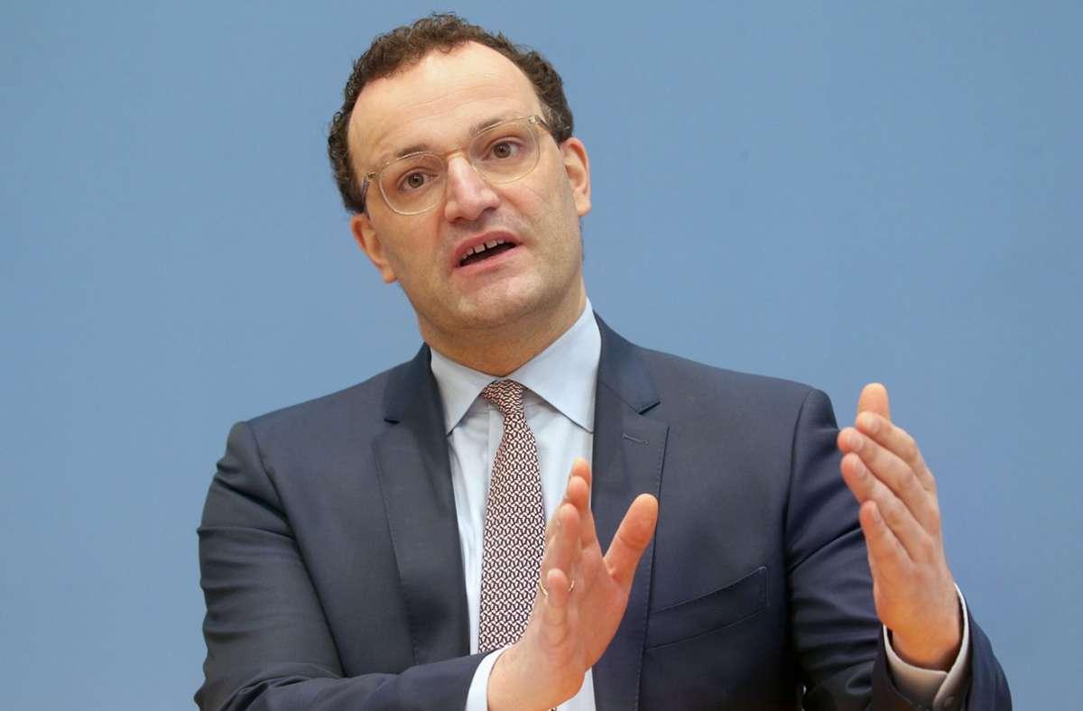Jens Spahn (CDU) warnt vor zu schnellen Lockerungen in der Coronapandemie. Foto: dpa/Wolfgang Kumm