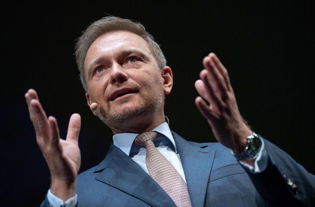FDP-Chef Christian Lindner kritisierte die Vorgaben der Bundesregierung zur Einhaltung der Klimaziele. Foto: dpa
