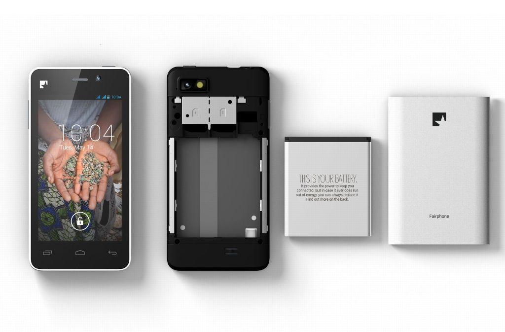 Beim Fairphone ist der Austausch einzelner Komponenten kein Problem. Foto: StZ