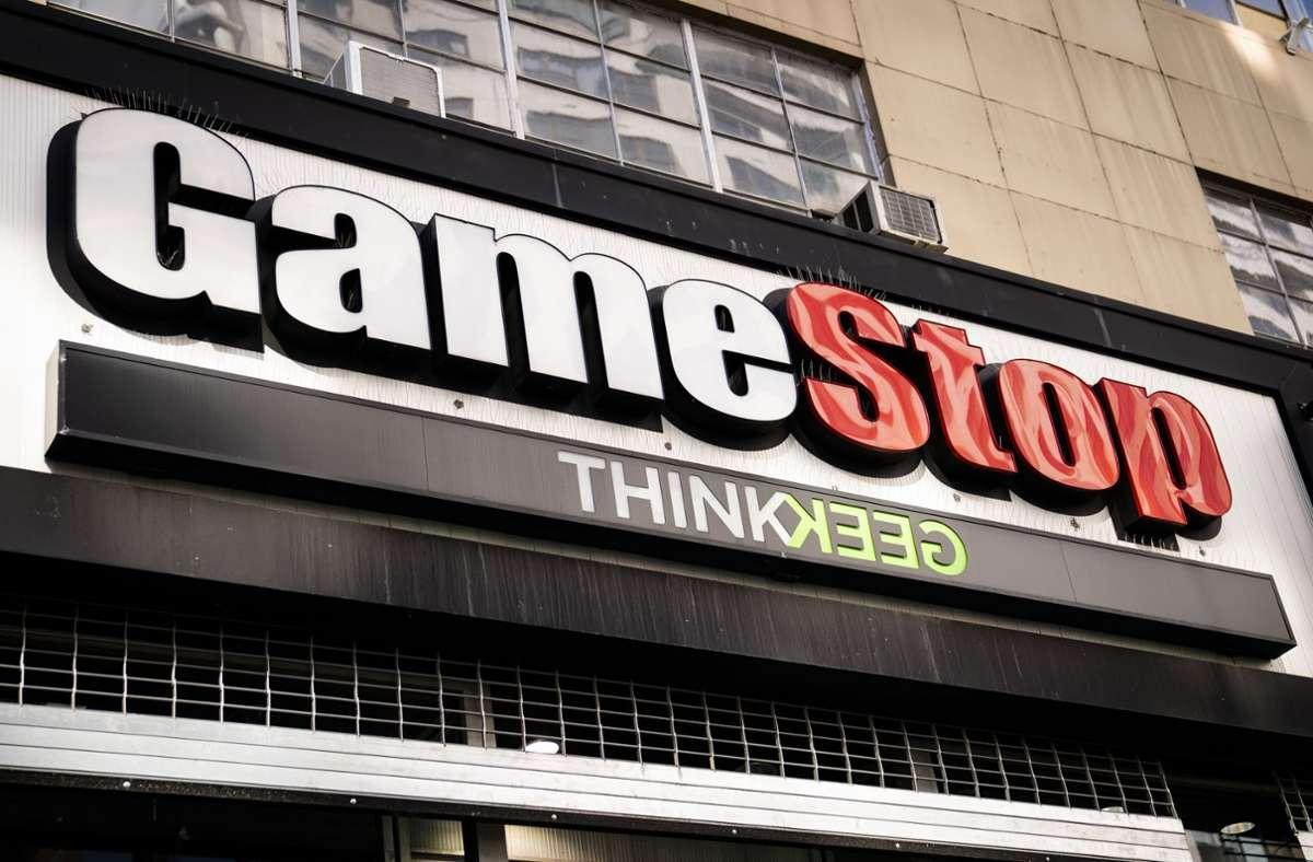 Die Gamestop-Aktie stieg innerhalb eines Monats um über 1200 Prozent an. Foto: dpa/John Minchillo