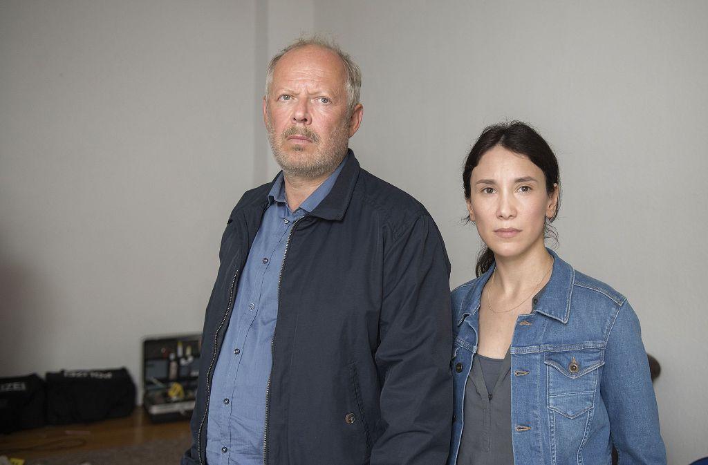 Die Ermittler Klaus Borowski (Axel Milberg) und Brandt (Sibel Kekilli) Foto: NDR Presse und Information