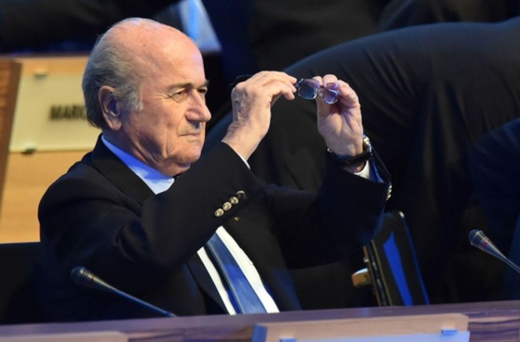 Im Zwielicht: der Fußball-Weltverband Fifa und sein Präsident Joseph Blatter Foto: AFP
