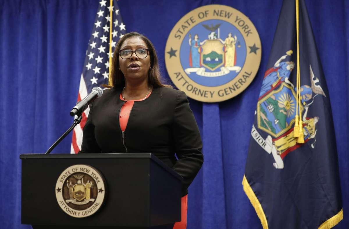 Justizministerin Letitia James will den Waffenlobbyverband NRA auflösen lassen. Foto: AP/Kathy Willens