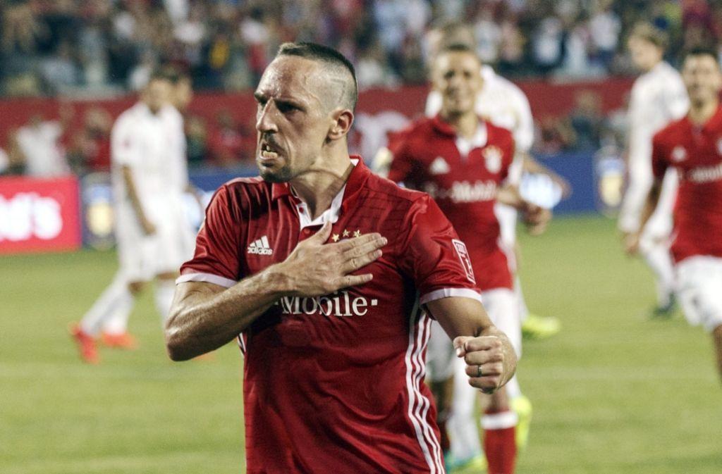 Unwiderstehlich: Franck Ribéry gibt sich beim FC Bayern wild entschlossen Foto: dpa