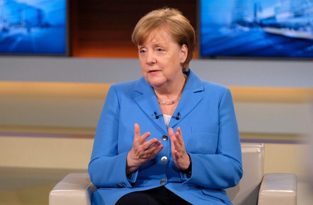 Angela Merkel hat sich bei Anne Will zum Fall Ilkay Gündogan und Mesut Özil geäußert. Foto: NDR