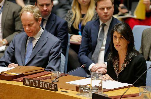 USA blockieren UN-Resolution zu Jerusalem