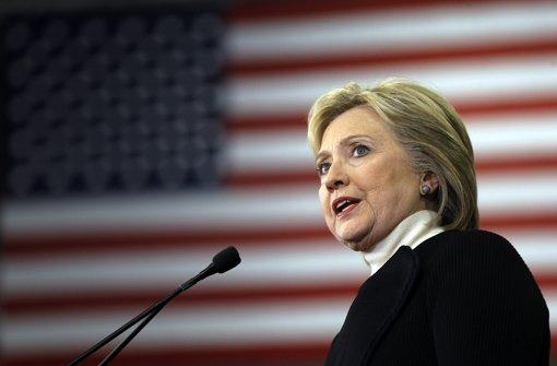 Hillary Clinton hat ihren dienstlichen Schriftwechsel per E-Mail über einen privaten Server laufen lassen. Foto: AP