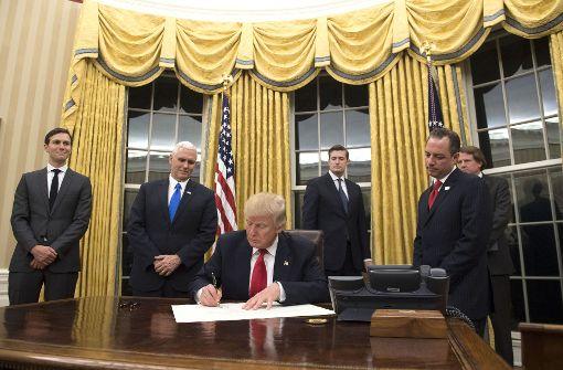 Trump hat das Oval Office vergoldet
