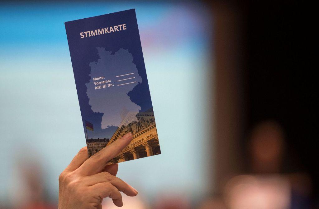 Die AfD Baden-Württemberg trifft sich zu ihrem Landesparteitag. Foto: dpa