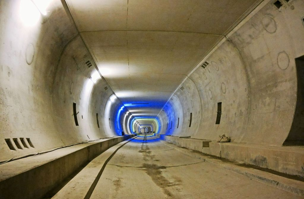 Eine der beiden Tunnelröhren im Rohbauzustand. Foto: Holzhäuser Ingenieur Consult GmbH